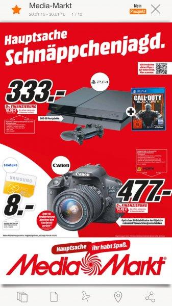 Bundesweit Media Markt PS4 500 GB + Black Ops 3 für 333€