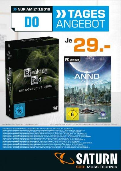 [Berlin&Potsdam] Saturn Breaking Bad (Komplette Serie) DVD / Anno 2205 beides je 29€