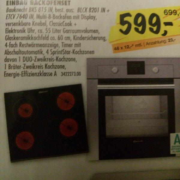 [offline SCONTO Möbel] Einbau Backofenset Bauknecht BKS 815 IN Set Backofen BLCK8201IN + Glaskeramik Kochfeld ETCV7640IN (PVG 722€/781€)
