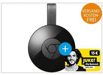 [Saturn] Google Chromecast 2 + 15€ Juke Gutschein für 34,-€ mit Newslettergutschein.Versandkostenfrei