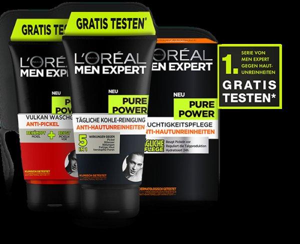 [Geld zurück]  L'Oréal Men Expert Pure Power gegen Kassenbon gratis Testen