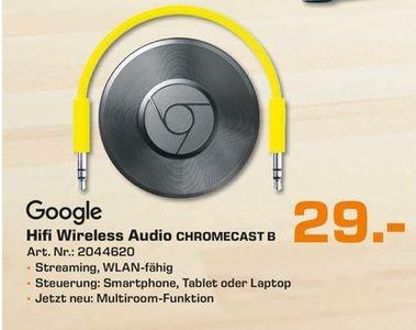 [Lokal Saturn Baunatal] Google Chromecast AUDIO für 29,-€
