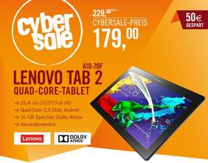 Cyberport CyberSale Lenovo Tablet Tab 2 A10-70F midnight blue WiFi 16GB Full HD Android 4.4