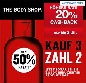 [QIPU] The Body Shop: 20% Cashback auf deine Bestellung