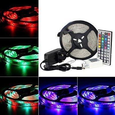 [Amazon Prime] LED Streifen Set mit RGB Farbwechsel 5M SMD 3528 300LEDs IP65 Wasserdicht mit 44 Tasten für 0,99€