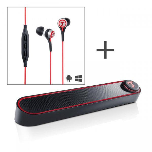 Teufel BT BAMSTER Bluetooth Soundbar inkl. Move In-Ear-Kopfhörer für 99,99€