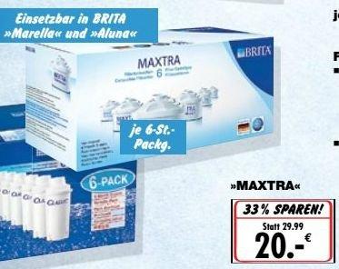 [Kaufland Bundesweit] Ab Montag...BRITA Maxtra Filterkartuschen 6er Pack für glatte 20,-€