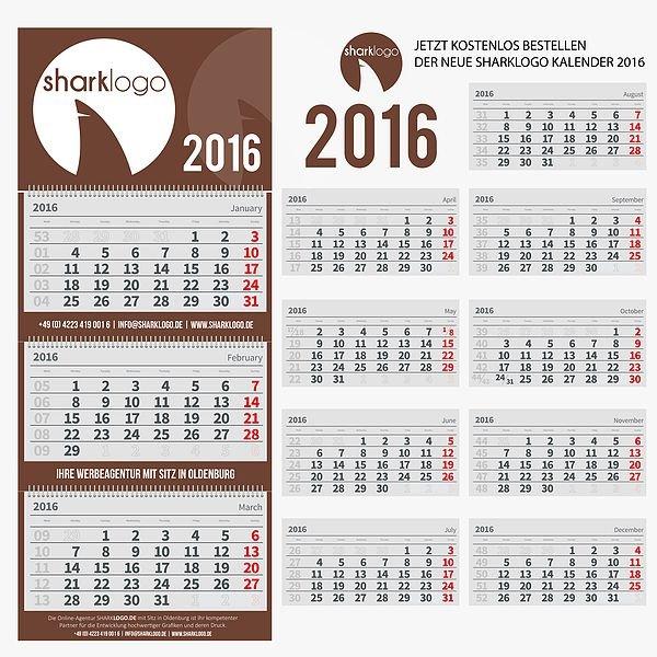 bei sharklogo.de bekommt man einen GRATIS-KALENDER für 2016