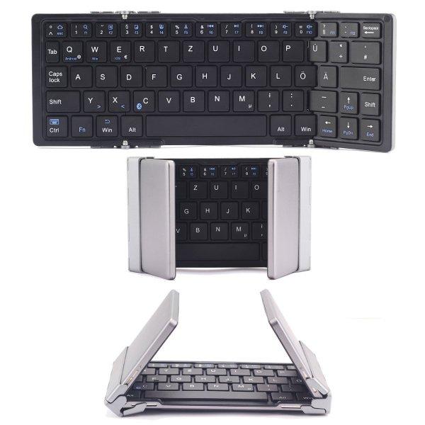faltbare Bluetooth Tastatur mit QWERTZ-Layout