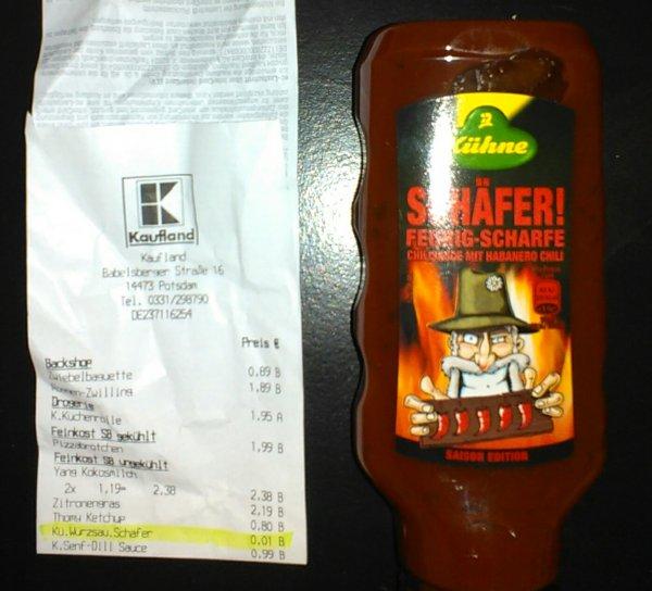 [lokal, Kaufland Potsdam] Kühne Chilli Soße für 1¢