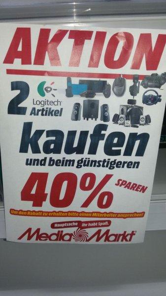 (Lokal Mediamarkt Porta)Logitech Aktion.2 Logitech Artikel kaufen und 40%Rabatt auf den günstigeren Artikel bekommen