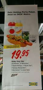 Ikea Hot Dog Party Paket (32 Hot Dogs) für 19.95€ statt 27.25€
