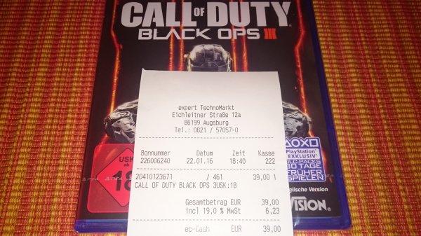 Lokal Augsburg Expert 39 Euro Call of Duty Black Ops III PS4