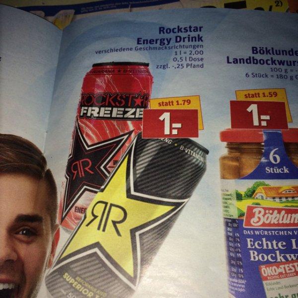 (Rewe/Bundesweit) Rockstar Energy Drink 1€ + Pfand