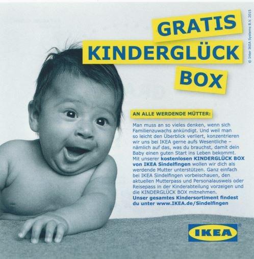 Lokal IKEA Sindelfingen Gratis Kinderglück Box