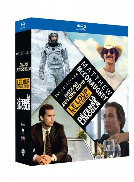 (Amazon.fr) Matthew McConaughey Blu-ray Box: Interstellar, Dallars Buyers Club, Wolf of Wallstreet & der Mandant in OV