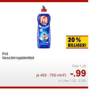 Kaufland: 3x Pril für 1,47€ (0,49€ pro Flasche) mit Gutschein