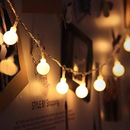 LED Globe Lichterkette Innen Deko Glühbirne 10 Meter 100er Warmweiß von InnooTech