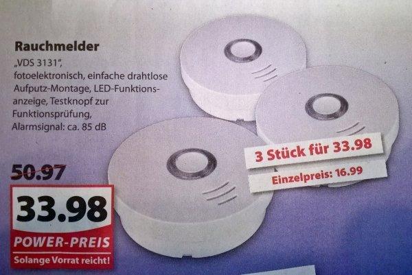 LOKAL Famila Rauchmelder VDS3131 3-er Pack.   30% unter  Idealo