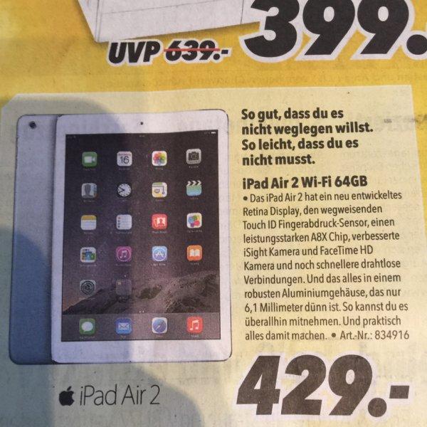 [lokal] Apple IPad Air 2 Wi-Fi 64GB Regensburg Medimax