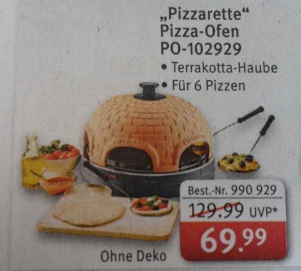 """[Rossmann On- & Offline] Pizza-Ofen """"Pizzarette"""" für 6 Personen 69,99"""
