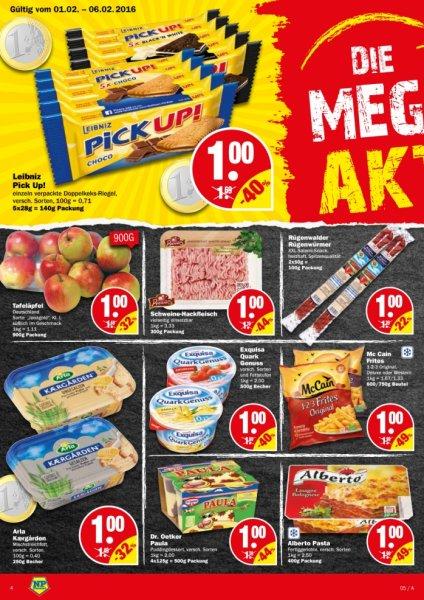 McCain 1-2-3 Frites Original 750g für 0,50€/0,48€/0,45€ bei NP (Niedrigpreis Discounter)