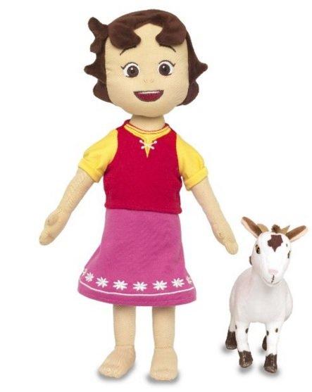 (Amazon Plus) Heidi Plüsch Puppe mit Ziege - 30cm groß! - Preisvergleich: ab 21€