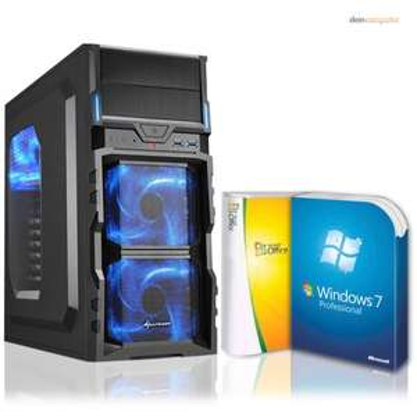 Komplett PC, AMD A8-7600 (4x3,9), 16GB RAM, 128GB SSD, 500GB HDD, Windows 7 Pro (Windows 10 Pro), Office 2010 Starter ~359,00€ inkl. Versand