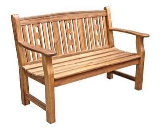 Dehner Gartenbank Bristol, 2-Sitzer, ca. 130 x 66 x 88.5 cm, FSC Akazienholz, natur (Preisfehler ?)