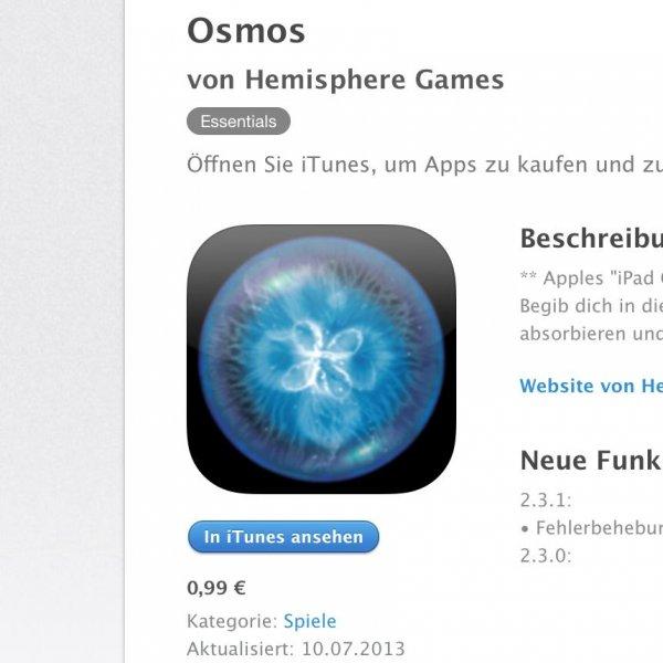 [iOS] Osmos 0,99€