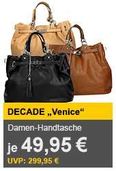 Handtasche, aus PU Kunstleder von Decade in 3 versch. Farben ab 49,95€ inkl VSK @AYN