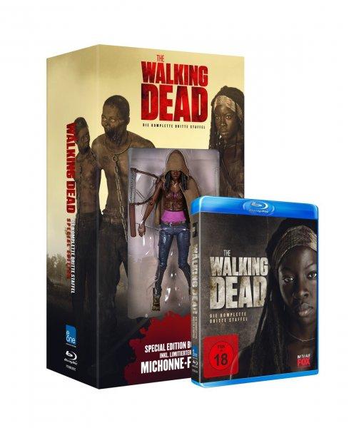 [Amazon] The Walking Dead - Die komplette dritte Staffel (inkl. Michonne Figur / exklusiv bei Amazon.de) [Blu-ray] für 29,97€