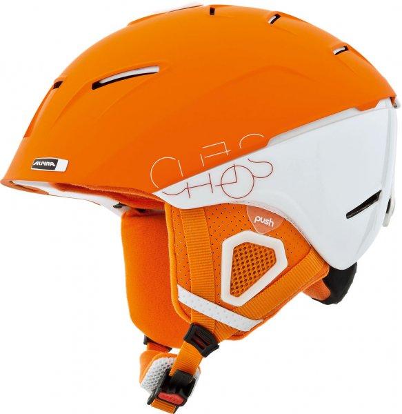 Skihelm Alpina Cheos in weiß-orange und Größe M