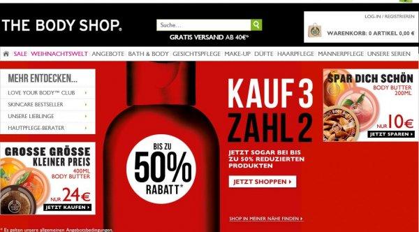 The Body Shop - Body Butter 200 ml für EUR 5,71 (oder EUR 4,75 bei Berücksichtung des Cashbacks von Qipu) bei einem Kauf von 7 Stück * statt EUR 17,00 pro Body Butter * bis zu 70% Rabatt