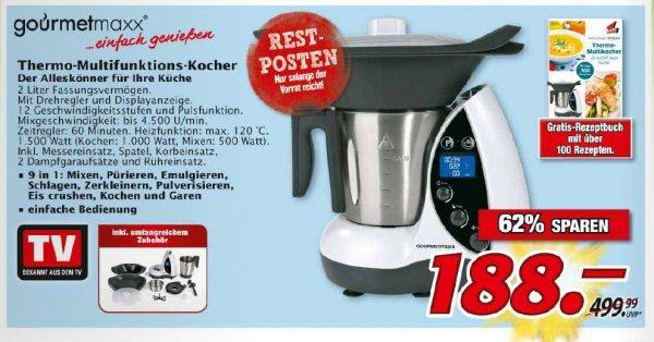 [Marktkauf Nordbayern] Gourmet maxx Thermo-Multikocher 9in1 für 188 €, nur am Mittwoch 10-fach Deutschlandcard-Punkte möglich
