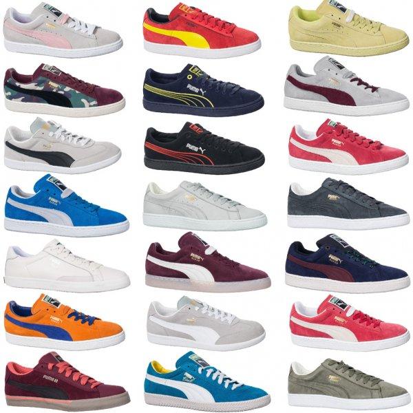 PUMA Suede Unisex Leder Sneaker in vielen Größen und Farben für 32,99 € @ ebay wow