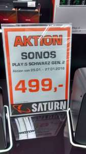 [Lokal Saturn Dortmund-City] SONOS Play: 5 (2. Generation)