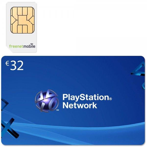 freenetMobile DUO SIM-Karte = 32 Euro PSN Guthaben