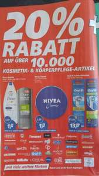 (real,- ab 01.02.16) 20% auf Kosmetik- & Körperpflege + 5€ Gutschein ab 30€ Einkaufswert
