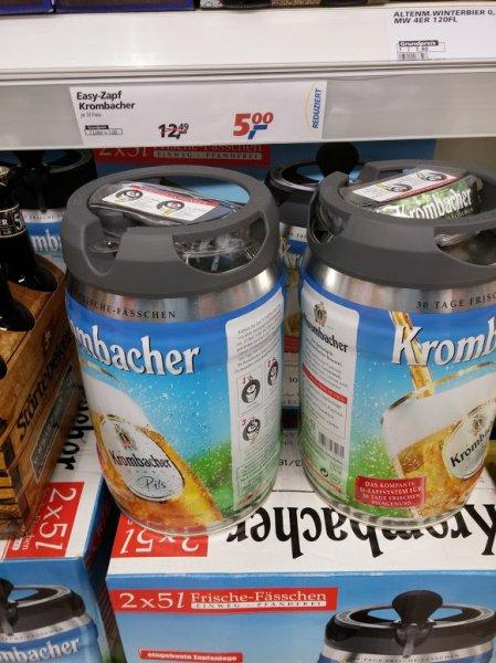 real,- Berlin Gesundbrunnen - 5 Liter Krombacher Pils Easy Zapf Fass