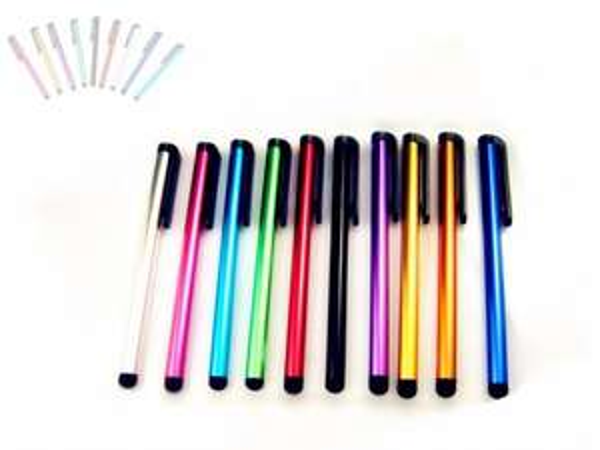 [EBAY / CN ]  10 x Touchpen / Stylus Pen aus Aluminium in verschiedenen Farben bei Ebay