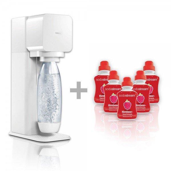 SodaStream Play Wassersprudler weiß inkl. 5x 500ml Himbeer Sirup für 47,90€ @ Comtech