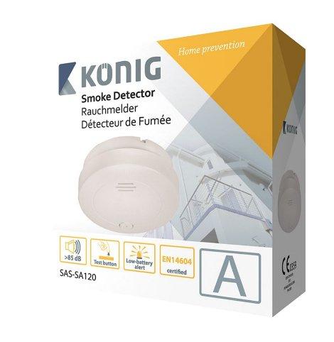 König Batteriebetriebener Rauchmelder SAS-SA120 - 5€ +VK