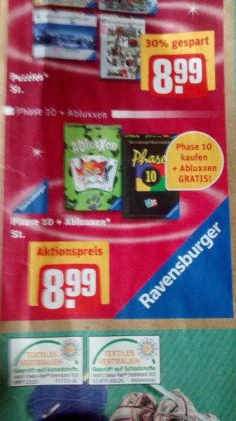 Phase 10 + Abluxxen für 8,99€ @REWE