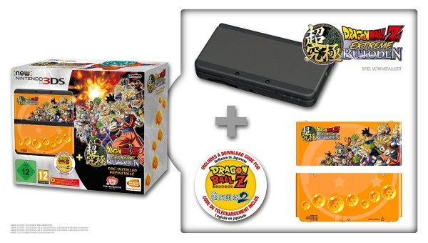 Nintendo New 3DS schwarz mit Dragon Ball Z: Extreme Butoden + Gehäuseblende für 169€