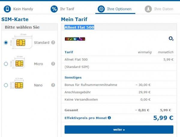 DiscoPlus (o2) Allnet Flat 500 5,99 Euro
