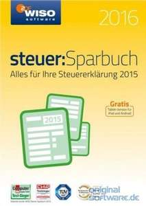 WISO Steuer: Sparbuch 2016 Vollversion Windows (ESD für 17,55