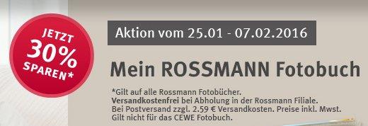30% auf Rossmann Fotobücher
