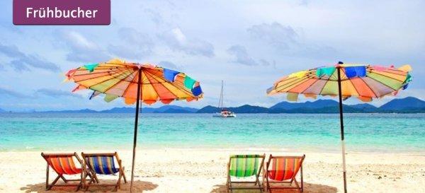 Thailand Urlaub: 13 Tage im ausgezeichneten 4* Resort schon für 791€ inkl. Frühstück, Flügen, Transfer & Zug zum Flug