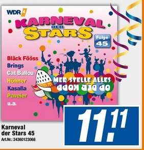 Karneval der Stars Folge 45 als CD für 11,11 € bei Expert Neuss, evtl. bundesweit?